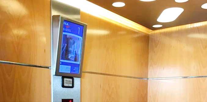 Las empresas alavesas Iza y Oboid diseñan el ascensor interactivo con el proyecto Visualiza